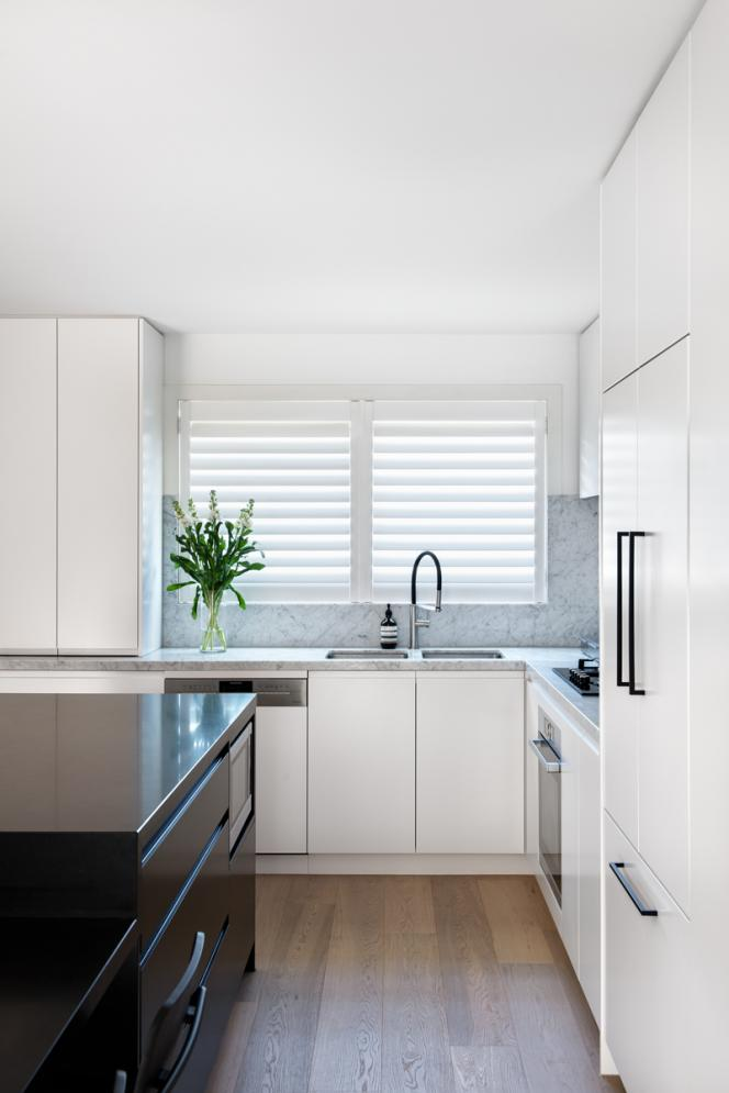 Plantation shutters look great in this Melbourne home