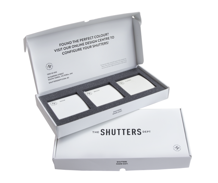Free shutter samples are available